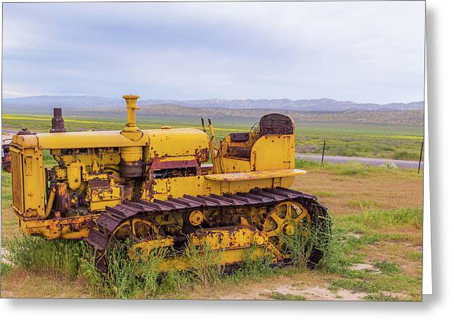 Greeting Card featuring the photograph Carrizo Plain Bulldozer by Marc Crumpler