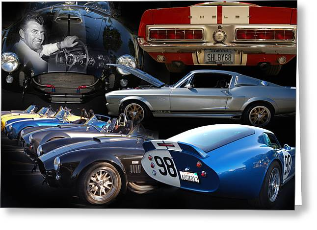 Carroll Shelby Tribute Greeting Card by Bill Dutting