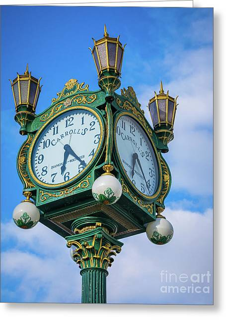 Carrolls Jewelers Clock Greeting Card