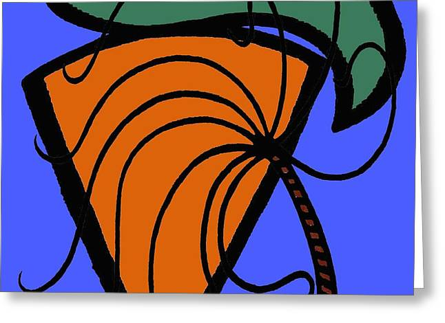 Carrot And Stick Greeting Card by Patrick J Murphy