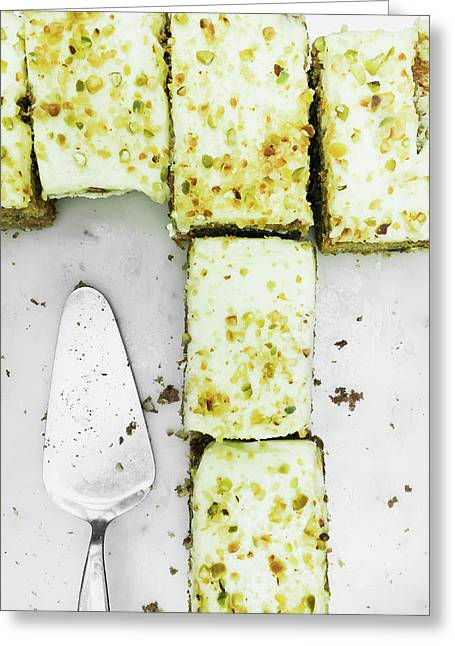 Carrot Cake Pieces Greeting Card