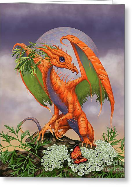 Carrot Dragon Greeting Card by Stanley Morrison