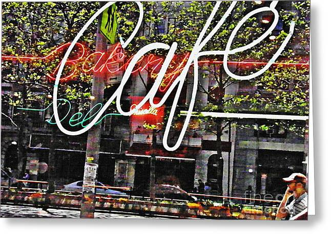 Carrot Top On Broadway Greeting Card by Sarah Loft