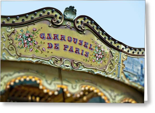 Carrousel De Paris Greeting Card