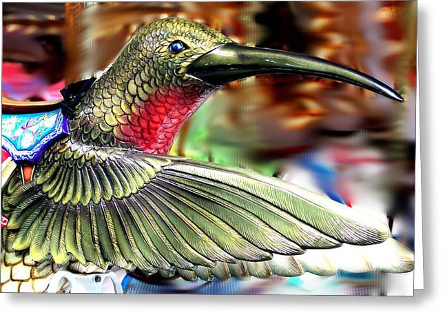Carrousel Hummingbird Greeting Card