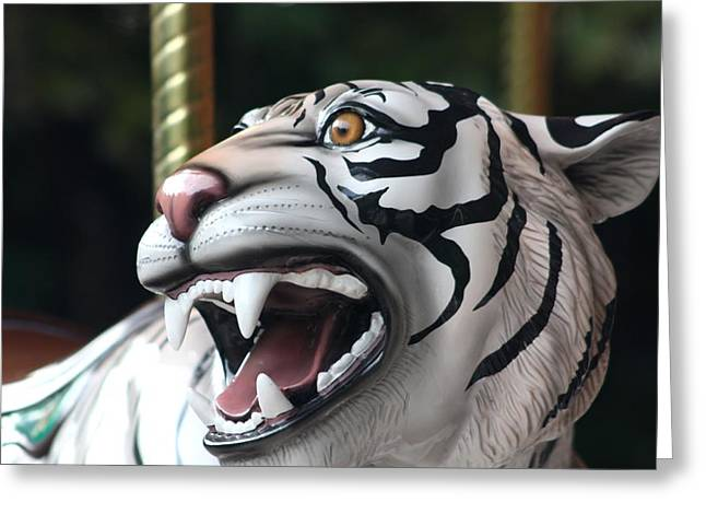 Carrousel Tiger Greeting Card