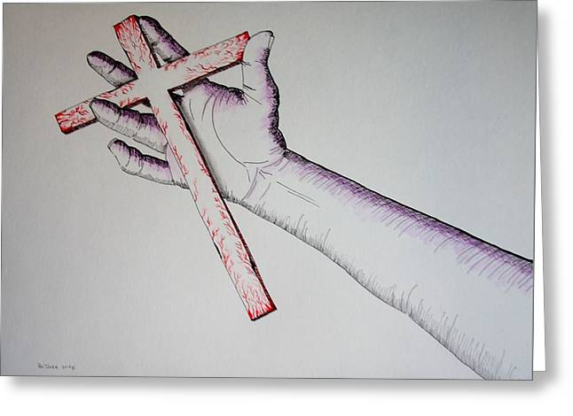 Carry Your Cross Greeting Card