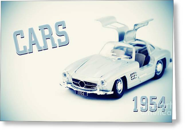 Cars 1954 Greeting Card by Angela Doelling AD DESIGN Photo and PhotoArt
