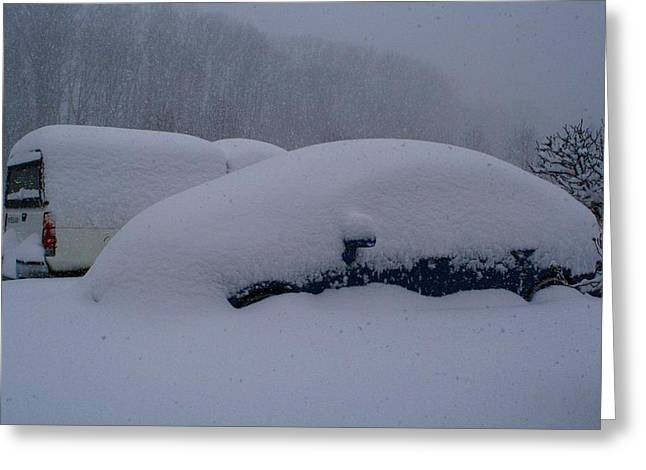 Cars During Snowpocalypse Greeting Card