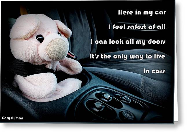 Cars Greeting Card by Piggy