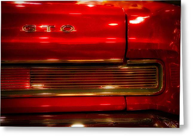 Cars Pontiac Gto Dreamy Red Greeting Card by Thomas Woolworth