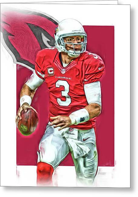 Carson Palmer Arizona Cardinals Oil Art Greeting Card
