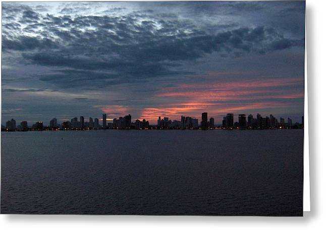Cartagena Colombia At Sunset Greeting Card by Janet  Hall