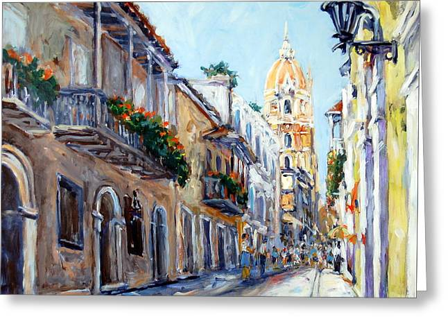 Cartagena Colombia Greeting Card by Alexandra Maria Ethlyn Cheshire