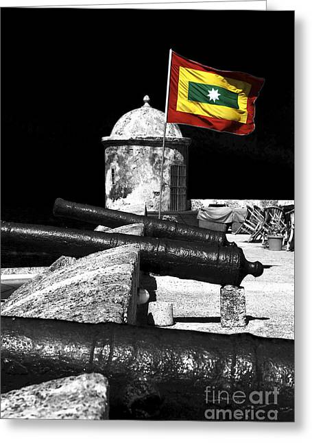 Cartagena Walled City Greeting Card by John Rizzuto