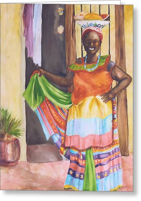 Cartegena Woman Greeting Card