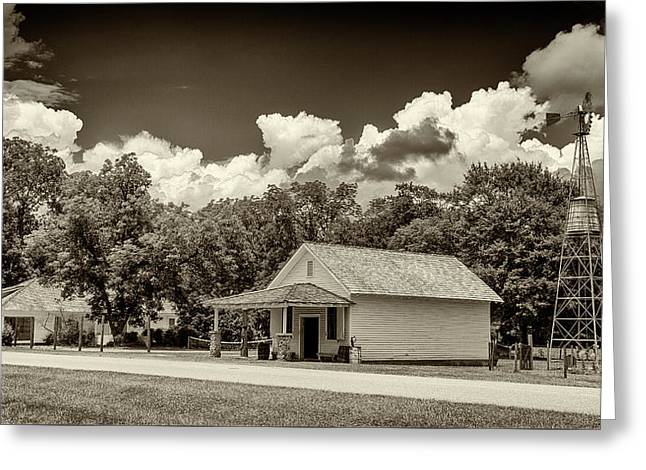 Carter Boyhood Home Greeting Card by Stephen Stookey