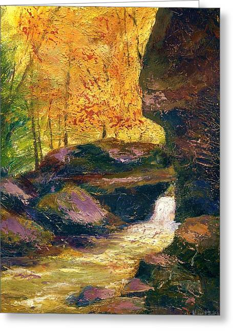 Greeting Card featuring the painting Carter Caves Kentucky by Gail Kirtz