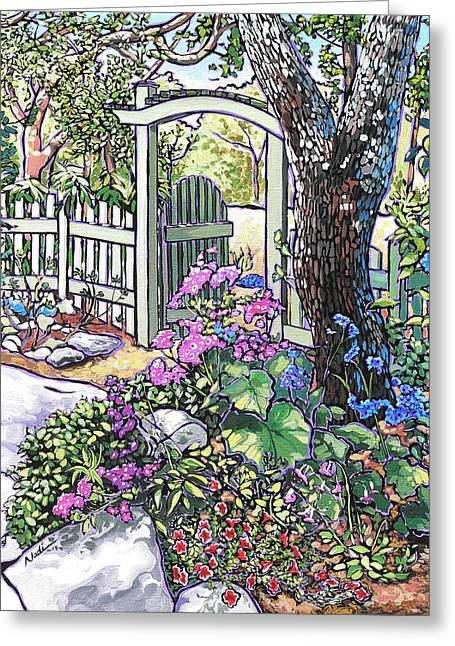 Carter Garden Greeting Card by Nadi Spencer