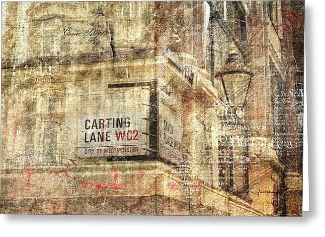Carting Lane, Savoy Place Greeting Card