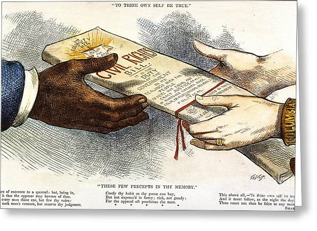 Cartoon: Civil Rights 1875 Greeting Card by Granger