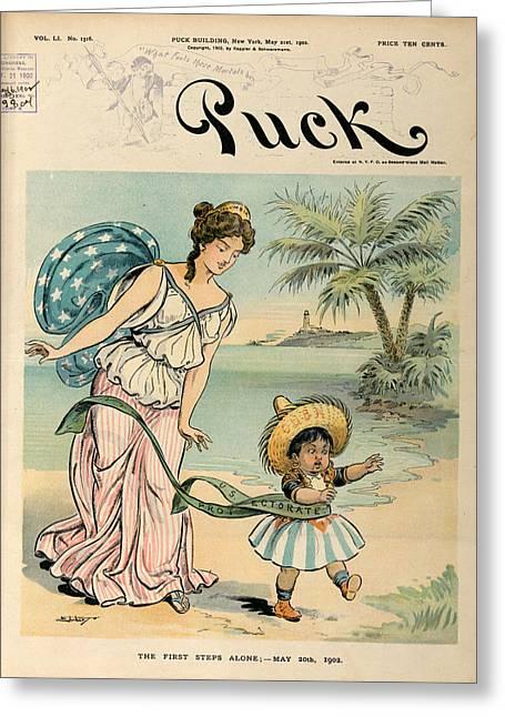 Cartoon: Cuba, 1902 Greeting Card by Granger