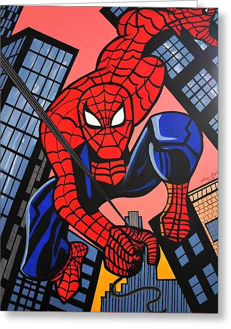 Cartoon Spiderman Greeting Card