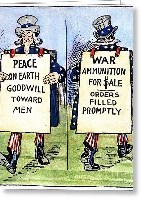 Cartoon: U.s. Neutrality Greeting Card by Granger