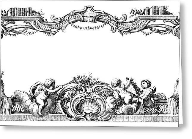 Cartouche, 1755 Greeting Card by Granger