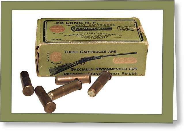 Cartridges For Rifle Greeting Card by Susan Leggett