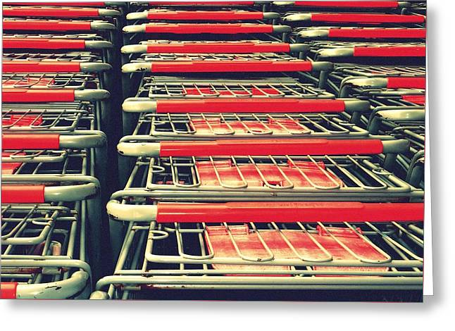 Carts Greeting Card by Gia Marie Houck
