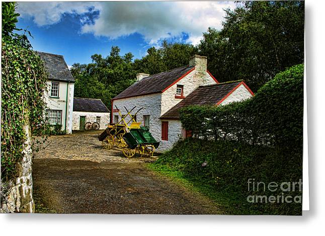 Cartwheel Cottages Greeting Card by Kim Shatwell-Irishphotographer