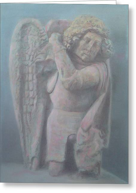 Carved  Archangel Greeting Card