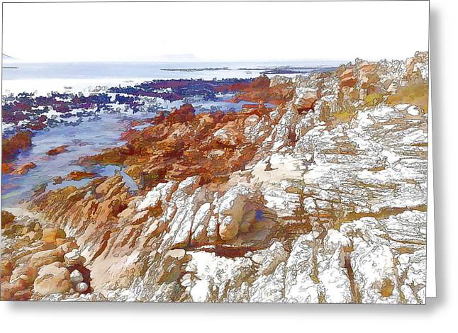 Carved By The Sea Greeting Card by Jan Hattingh
