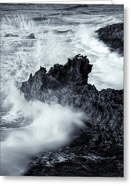 Carved By The Sea Greeting Card by Mike  Dawson