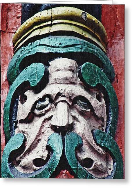 Carved Window Post Mainz Greeting Card by Sarah Loft