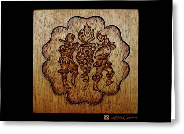 Carved Wood Baking Mold #24 Greeting Card