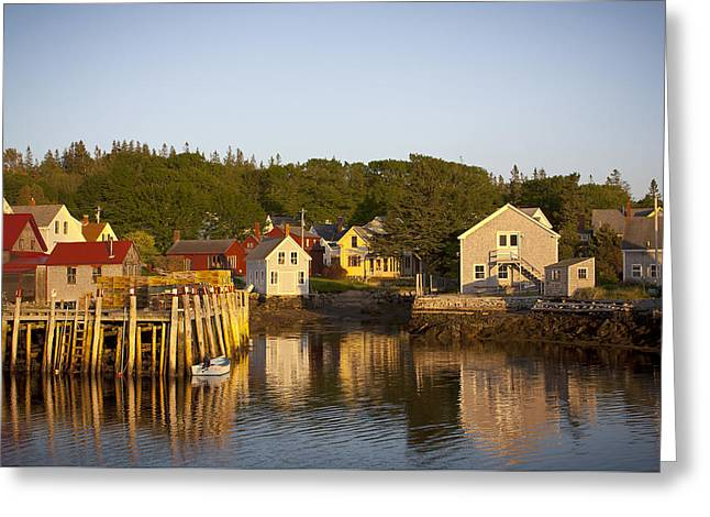 Carvers Harbor At Sunset, Vinahaven, Maine Greeting Card