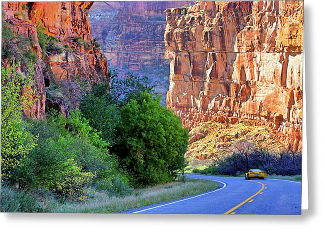 Greeting Card featuring the photograph Carving The Canyons - Unaweep Tabeguache - Colorado by Jason Politte