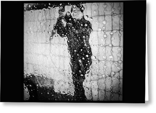Carwash Cool Black And White Abstract Greeting Card