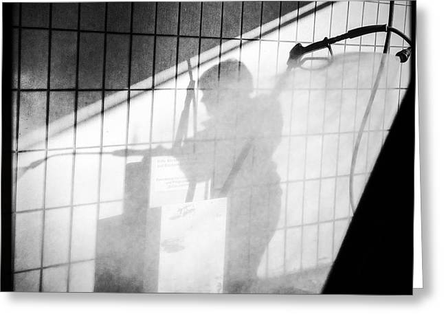 Carwash Shadow And Light Greeting Card by Matthias Hauser