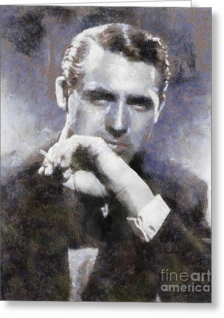 Cary Grant By Sarah Kirk Greeting Card