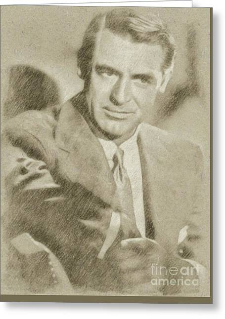 Cary Grant Hollywood Actor Greeting Card by Frank Falcon