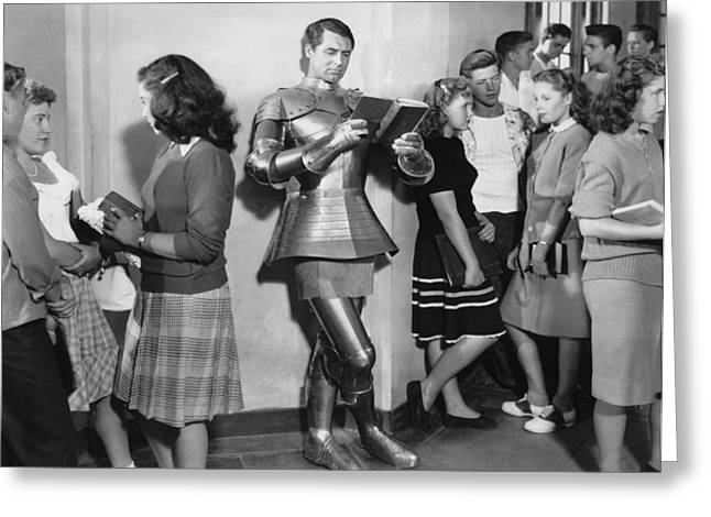 Cary Grant In Armor Greeting Card