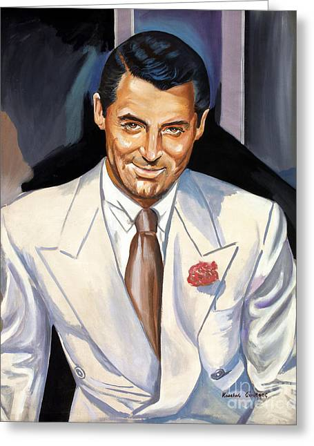 Cary Grant Greeting Card by Spiros Soutsos