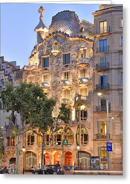 Casa Batllo Barcelona  Greeting Card by Marek Stepan