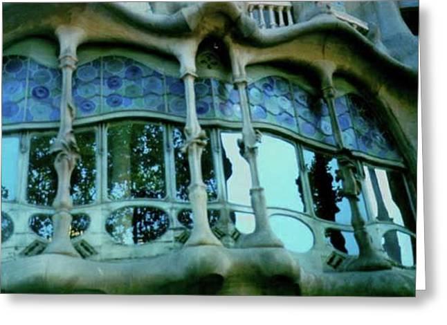Art Nuveau Greeting Cards - Casa Batlo Gaudi Greeting Card by Lydia L Kramer
