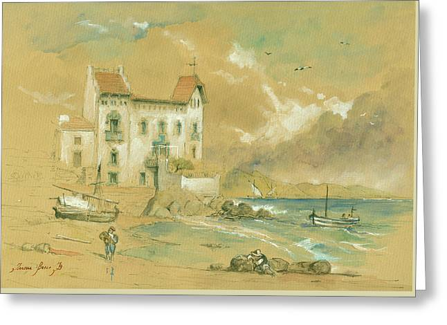 Casa Blava Cadaques Greeting Card by Juan Bosco