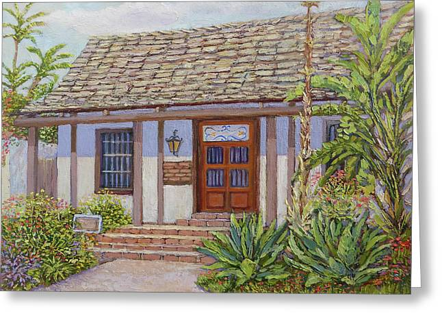 Casa De Miguel Pedrorena Greeting Card by Miguel A Chavez