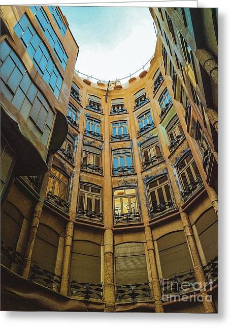 Greeting Card featuring the photograph Casa Mila - Barcelona by Colleen Kammerer